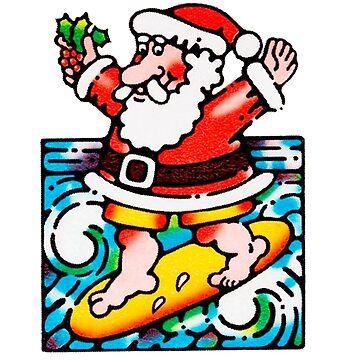 Santa surfing by GSunrise