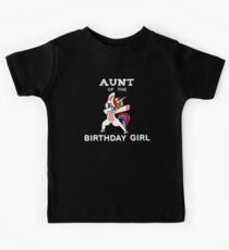 Aunt Of The Birthday Girl Dabbing Unicorn Funny Graphic Tshirt  Kids Clothes