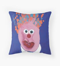 Portrait inspiré de Jean Charest - Martin Boisvert - Faces à flaques Throw Pillow