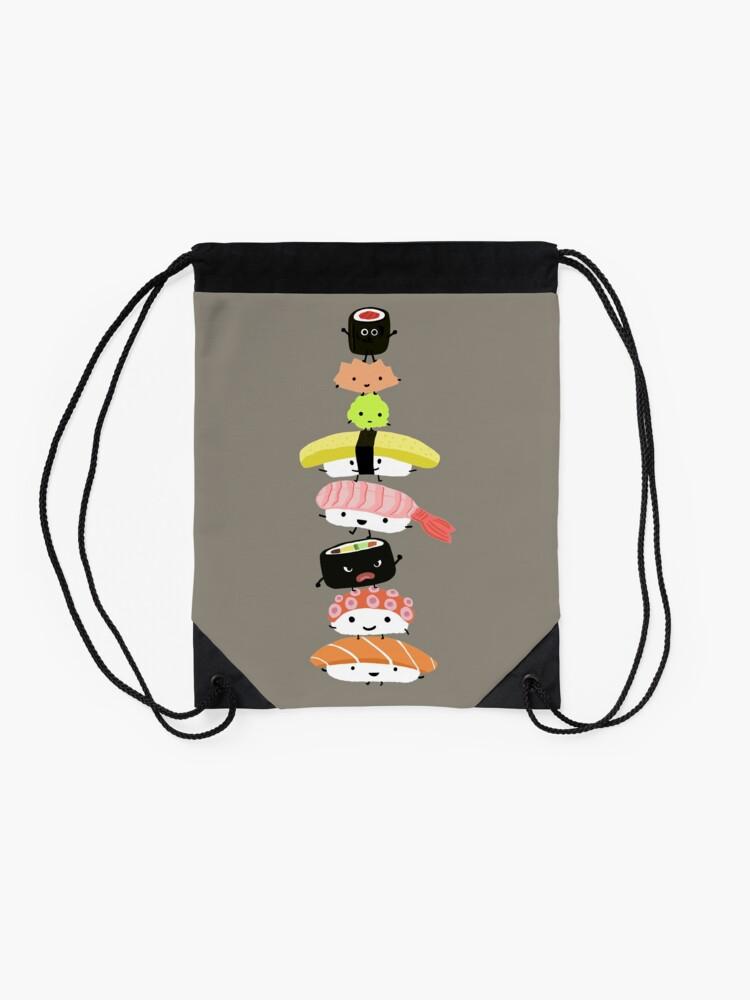 Alternate view of Sushi Stack Drawstring Bag