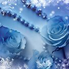 Winter Roses And Pearls Blue Version by hurmerinta