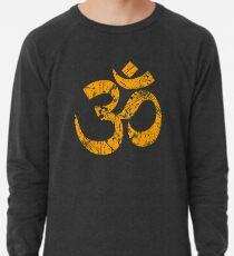 9fec04f919 OM Yoga Spiritual Symbol in Distressed Style Lightweight Sweatshirt