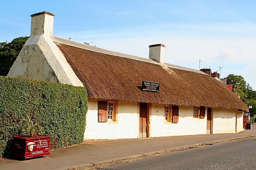 Robert Burns cottage, Alloway, Scotland by FranWest