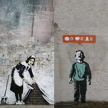 banksy  by DJVYEATES