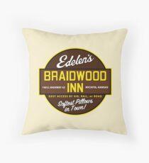 """Braidwood Inn - Wichita KS"" - Motel on ""Planes, Trains & Automobiles"" Floor Pillow"