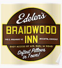"""Braidwood Inn - Wichita KS"" - Motel on ""Planes, Trains & Automobiles"" Poster"