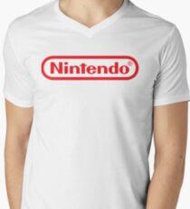 Camiseta de cuello en V Logotipo de Nintendo