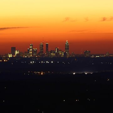 Atlanta Skyline Sunset by JohnZawacki