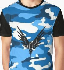Maverick Blue Camo - Logan Paul Graphic T-Shirt
