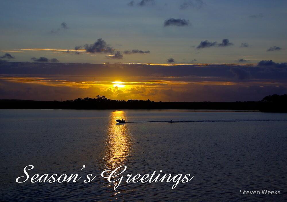 Strahan Harbour, Season's Greetings by Steven Weeks