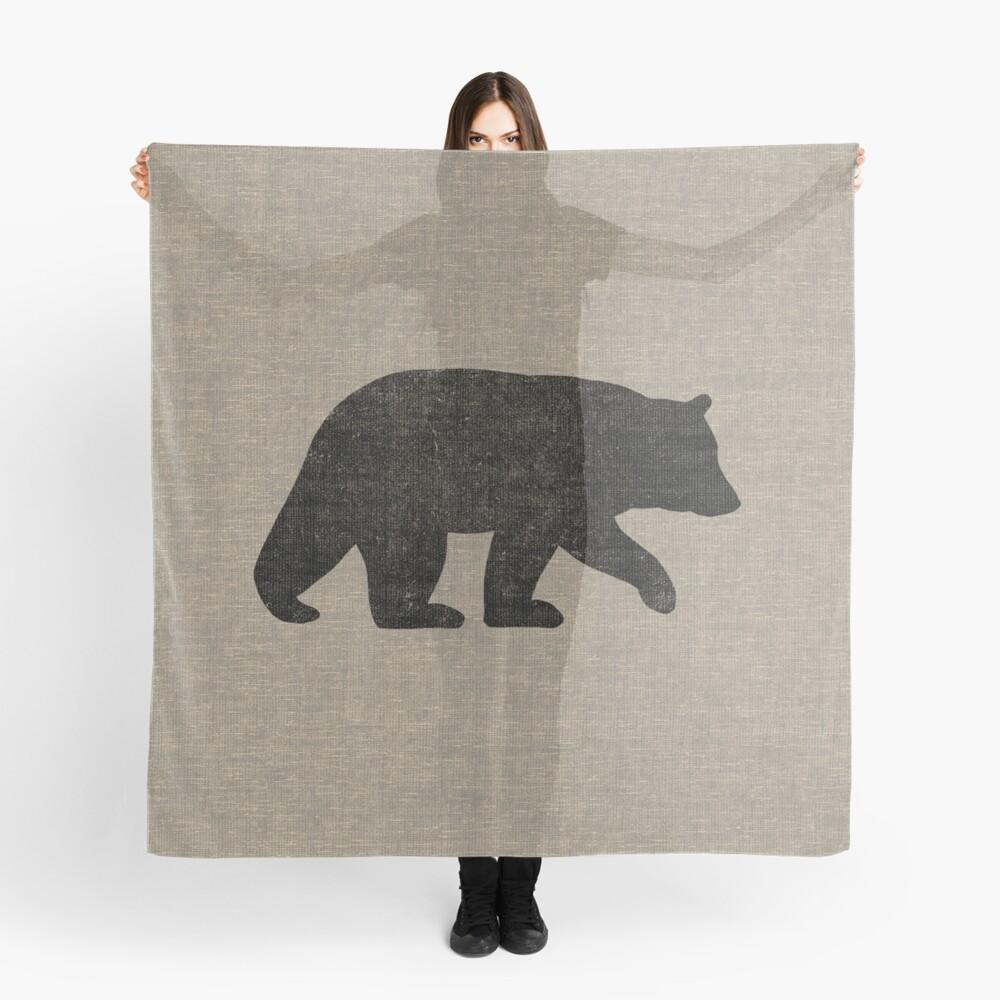 Schwarzbär Silhouette Tuch