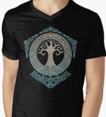 Camiseta para hombre de cuello en v YGGDRASIL.TREE OF LIFE.