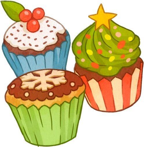 Christmas muffins by Helenamischenko