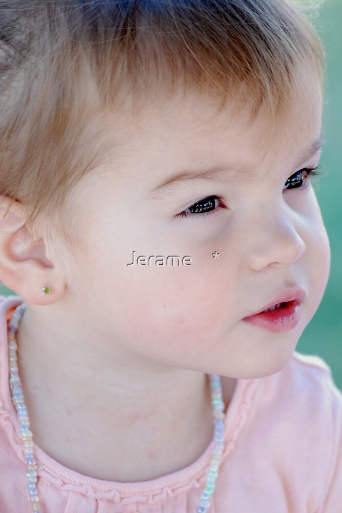 a baby's eyes by Jerame    *