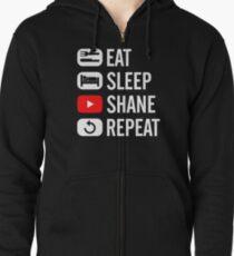 shane dawson eat sleep Zipped Hoodie