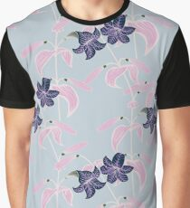 Lily pattern Graphic T-Shirt