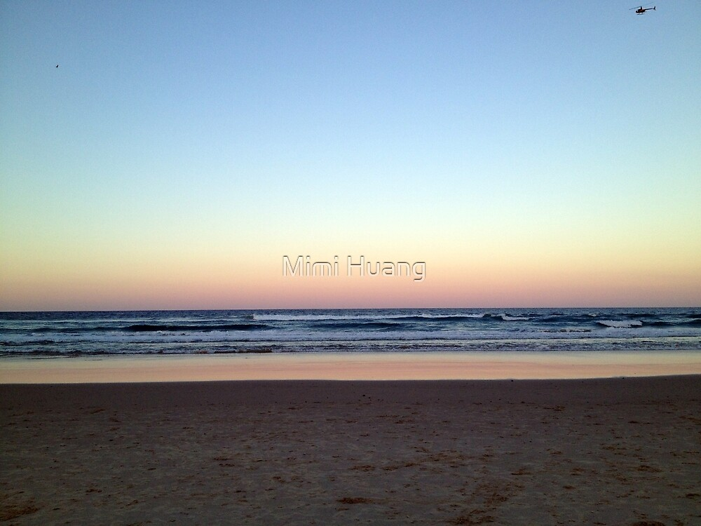 Gold Coast ,sunset by Mimi Huang