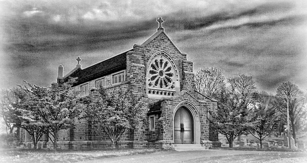 Old Church in black and white by GPMPhotography