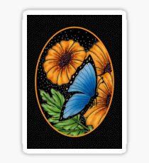 Midnight Butterfly Garden #1 Sticker