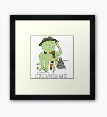 Doctorpus Who with Name Framed Print