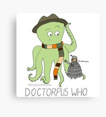 Doctorpus Who with Name Canvas Print