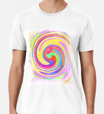 A white bowl filled with lots of colorful flowers Premium T-Shirt