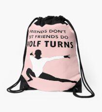 Wolf Turns Drawstring Bag