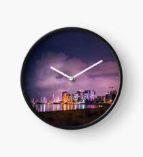 Nachtaufnahmen Reflexionen Uhr