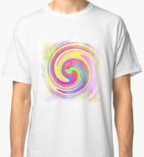 A white bowl filled with lots of colorful flowers Classic T-Shirt