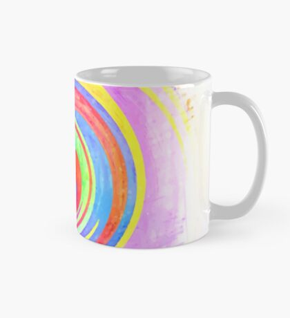 A white bowl filled with lots of colorful flowers Mug