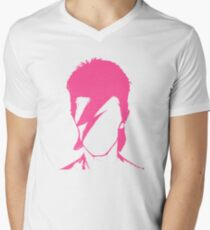 ROCK N ROLL STAR #pink Men's V-Neck T-Shirt