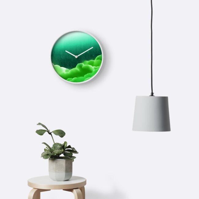 Green cloudy nightscape by KeyaShiro