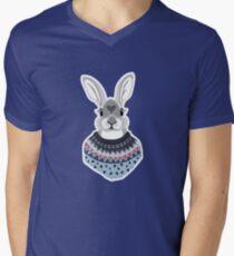 Forest Bunny  T-Shirt mit V-Ausschnitt für Männer