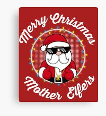 Merry Christmas Mother Elfers Canvas Print
