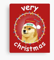 Doge Very Christmas Canvas Print