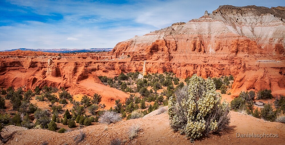 Massive Sandstone Cliffs at Kodachrome Basin State Park by Danielasphotos
