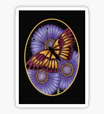 Midnight Butterfly #4 - Red Wine and Gold Sticker