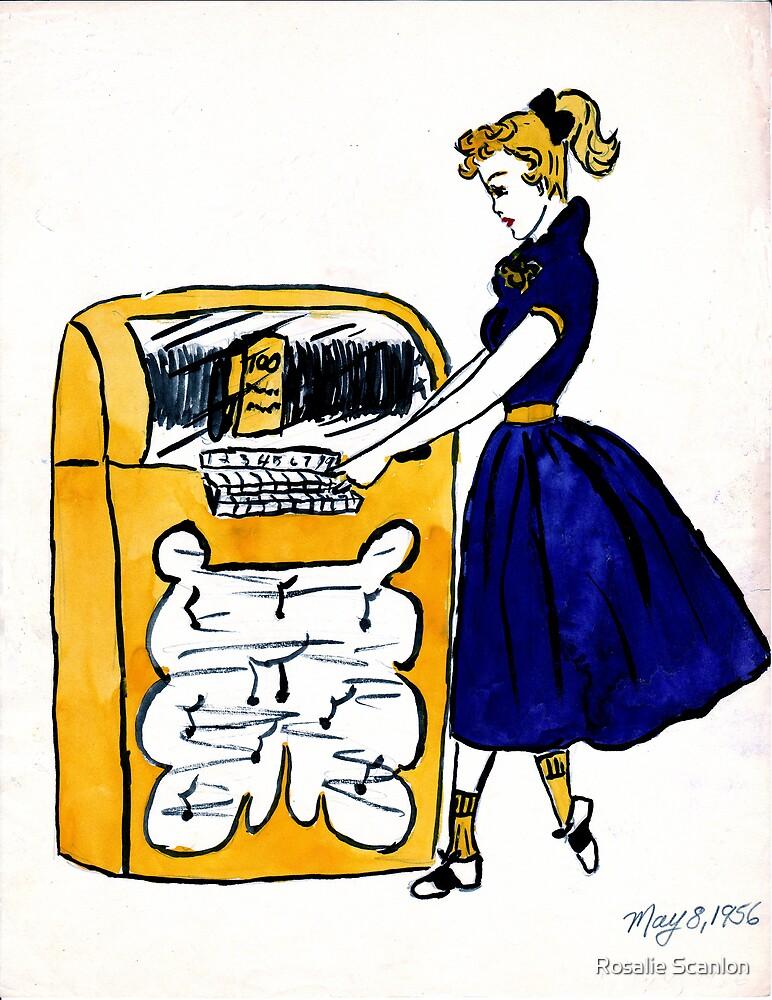 Juke Box Baby  1950's Retro by Rosalie Scanlon