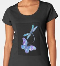 Dragonfly and Butterfly Wings Women's Premium T-Shirt