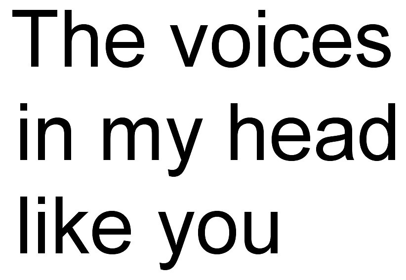 The voices#in my head#like you by QuotesMaestro