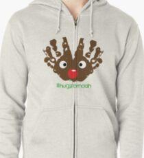 #HugsForNoah Rudolph Christmas Jumper Zipped Hoodie