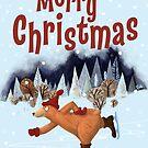 The Christmas Bear Loves Ice Skating by Hjarne  Kaiser