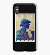 Sherlock Holmes vintage art nouveau style poster iPhone Case/Skin