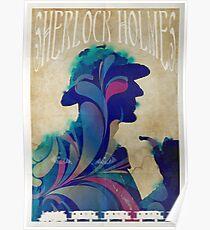 Sherlock Holmes vintage art nouveau style poster Poster