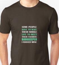Bookkeeper I Raised Mine  T-Shirt