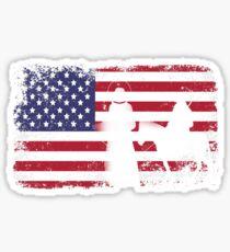 american flag christmas - usa christmas Sticker