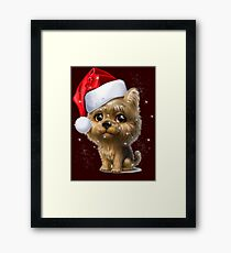 SPARKLING CHRISTMAS PUPPY Framed Print