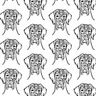 Great Dane face drawing von Doggenhaus