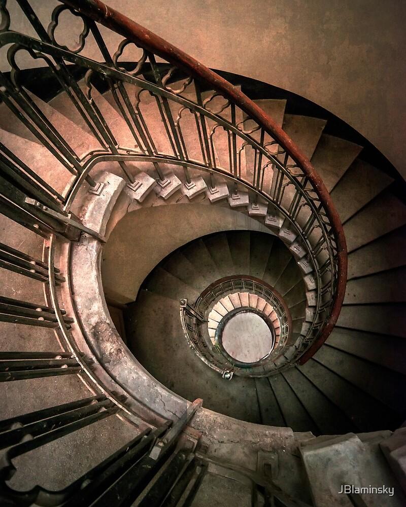 Spiral Staircase in brown tones by JBlaminsky