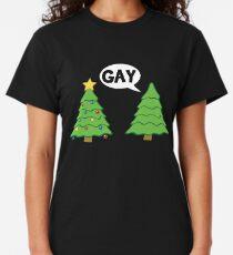 Gay Christmas Tree Funny Xmas Holiday Classic T-Shirt
